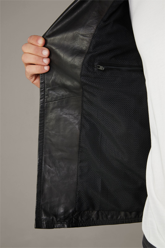 Lederjacke Parks - S.C. Collection, schwarz