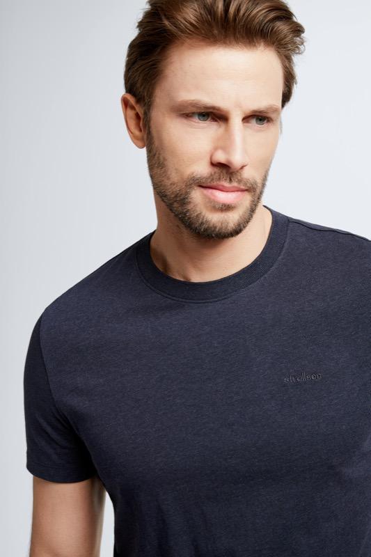 T-Shirt Henderson, dunkelblau meliert