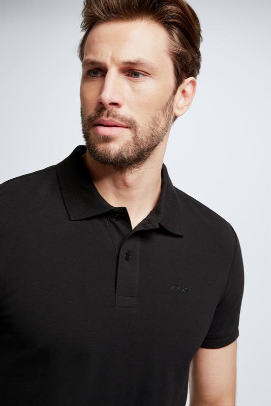 Polo-Shirt Petter, schwarz