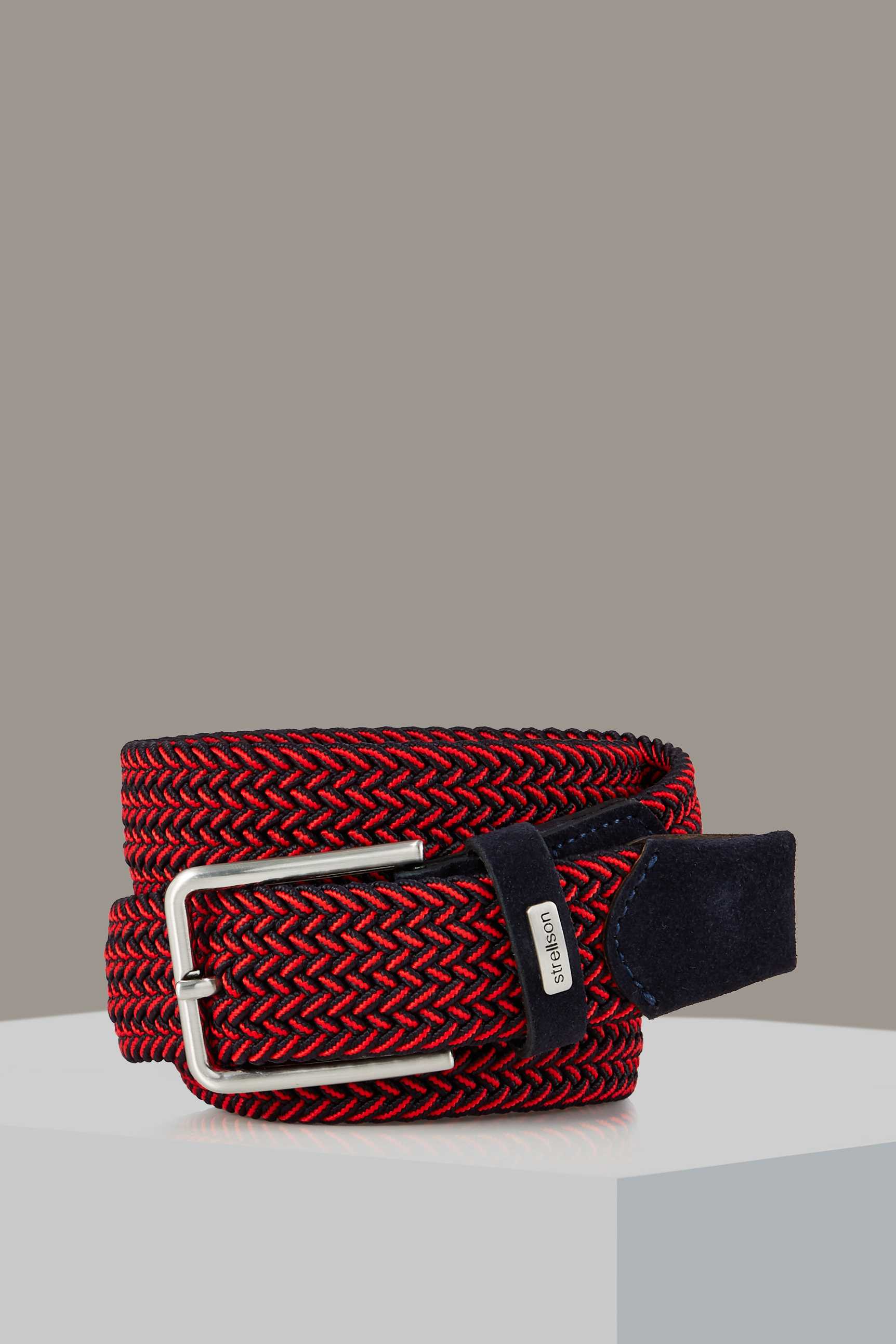 Ceinture Flex Cross, navy/rouge à motif