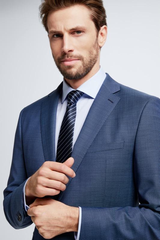 Anzug Rick-Jans, navy/schwarz Minimal-Dessin