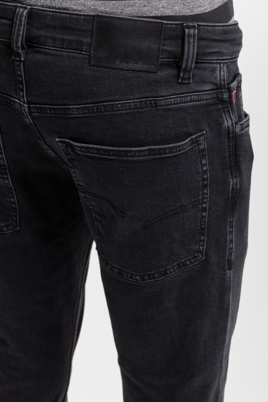 Jeans Robin, washed, noir