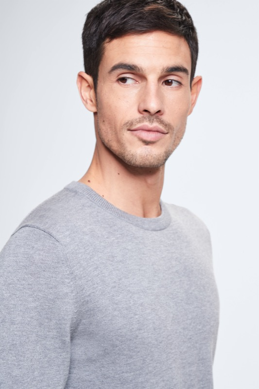 Pull-over Toby, gris chiné