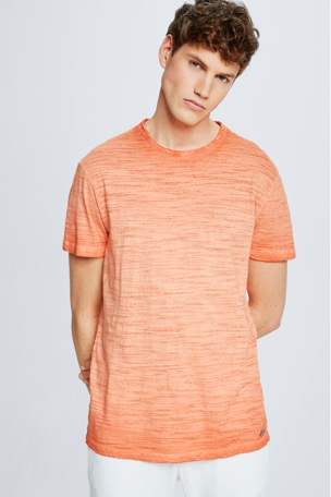 T-Shirt Jake, orange meliert