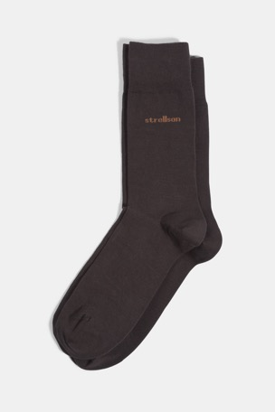 Soft Cotton Socken, dunkelbraun