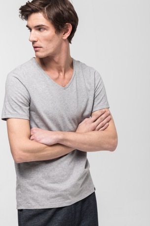 Active Cotton T-shirt, grijs gemêleerd