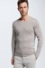 Pull-over Crewneck Lance, beige clair