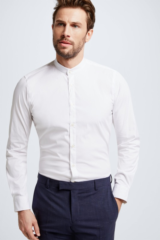 Chemise Siro, structurée, blanche