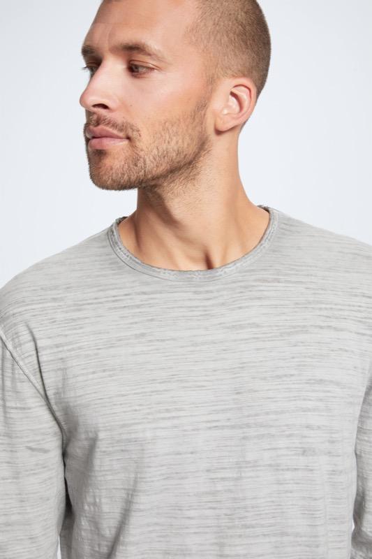 T-shirt à manches longues Tyler, gris moyen