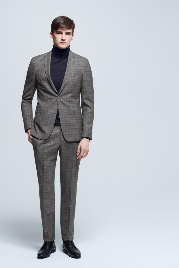 Costume combinable allen mercer gris fonc sur la boutique en ligne strellson - Costume gris fonce ...