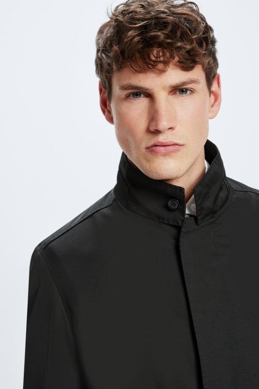 Highgate mantel, zwart