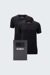 Lot de 2 t-shirts, en noir
