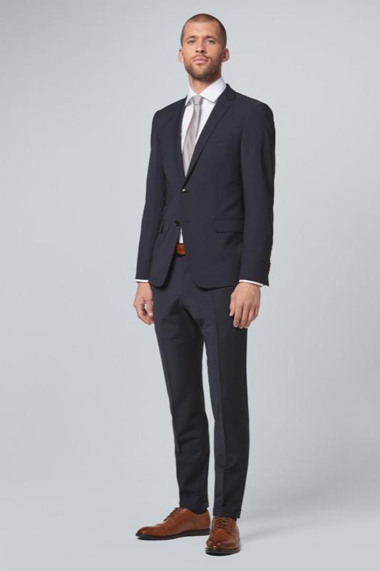 Anzug Crace-Walden| navy strukturiert | Bekleidung > Anzüge & Smokings | Strellson