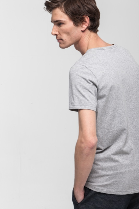 T-shirt Active Cotton, gris chiné