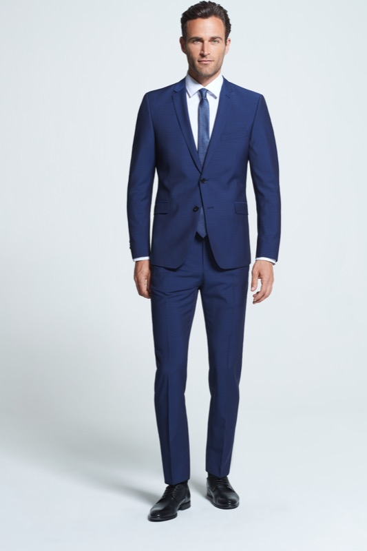 Kostuumbroek Mercer, blauw
