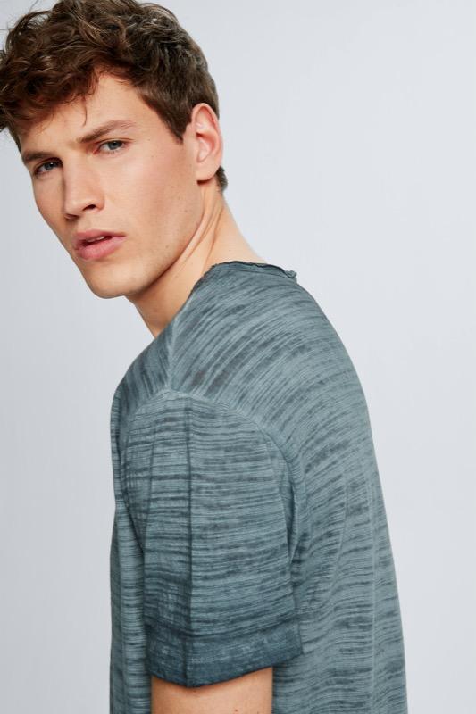 T-Shirt Jake, dunkelblau meliert