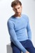 Pull-over en maille Harvey, bleu pastel