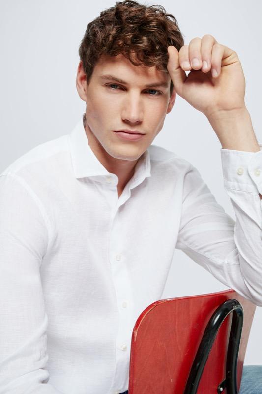 Leinen-Hemd Sereno, weiß